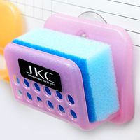 Min. order is $10(mix order) Japanese style folding colorful wall suction sponge debris rack shelf d343