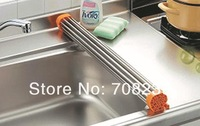 Large supply of stainless steel draining rack
