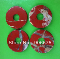 50x8mm New Fashion Jewelry Red Jasper Red River stone Gemstone Donut Pendants Beads Wholesale