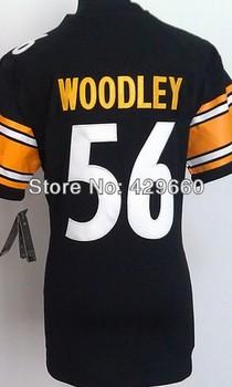Fashion Brand #56 LaMarr Woodley Women Jersey White/Black Rugby Football Jerseys American Game Lady Jersey Size S M L XL XXL