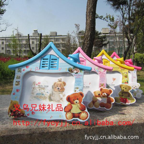 Grátis frete Home Decor 5R Plastic colorida em forma de Photo Frames crianças(China (Mainland))
