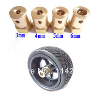 8pcs/lot  Couplings Hex Coupling Copper Cylinder For Smart Car Wheels Chassis DC Gear Motor Stepper Motor Size 3 4 5 6 7mm
