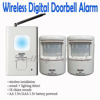 Wireless Digital Doorbell Door Chime,Driveway Patrol Security Alarm and Motion Sensor,Welcome Door Bell 16 Chime Sounds