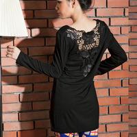FREE SHIPPING Autumn women's plus size XXXL all-match mm T-shirt basic shirt