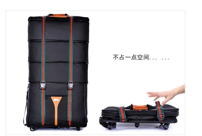 "Free shipping Inanna super large large capacity luggage bag extened travel bag waterproof oxford fabric retractable bag 30""(China (Mainland))"