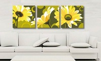 Frameless paint by number kits Diy digital oil painting 40 120   cm sunflower unique gift