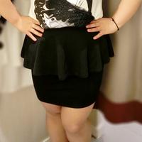 Sugar sugar plus size clothing summer step skirt xxxl tailored skirt slim hip skirt
