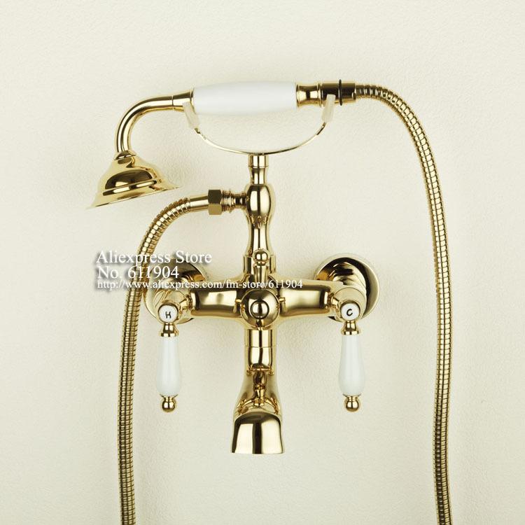 Griferia Para Baño Dorada:Ceramic Tub Handle Bathroom Faucets
