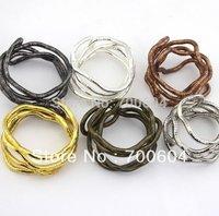 30pcs/lot 5mm* 90cm Collar Monogram Necklace chains Bendy iron Snake flexible bendable Necklace Shourouk Necklace for women