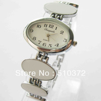 2013 brand new 5pcs mixed colors Lady Girl WOMEN Quartz Movement watch ellipse bracelet Wristwatches Xmas birthdays gift c43