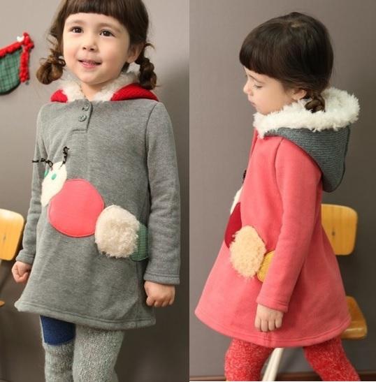 Girls Hoodies Babe Hooded Children's Coat Sweatshirts Babys Carpenterworm Outfits Jumpers Z417(China (Mainland))