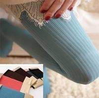 B006 2013 thin coarse vertical stripe pantyhose socks multicolour multicolor