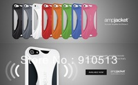 New Arrival AMPJACKET No Power 2x Volume Amplifier Hard Case  for iphone 5/5s 8 Candy Colors with retail package free shipping