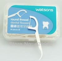 Health care brace for teeth dental equipment water flosser round thread dental flosser 150pcs in plastic box