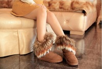 In the new winter fox fur boots female snow boots warm thick soled boots boots in female