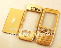 Gold Full Housing Housings Cover Case for  Nokia E52 ( with logo) free shipping  Wholesale