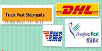 DHL shipping ,EMS shipping ,HKpost shipping . China Post Air Mail  as the product  fee