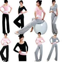 Yoga clothes three pieces set pad clothes leotard dance set ultralarge
