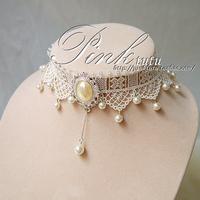 perolas Summer new arrival onrabbit lace necklace female vintage beige pearl accessories bridesmaid jewelry  perla