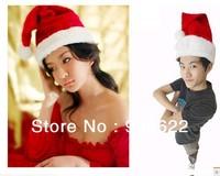 12PC/LOT   Christmas Hat Caps Santa Claus Father Xmas Cotton Cap Christmas Gift +Free shipping