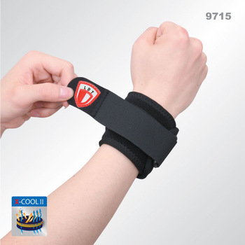 2014 First Aid Kit Sports Protective Clothing 9715 Breathable Adjustable Basketball Pressurized Badminton Wrist Support Single