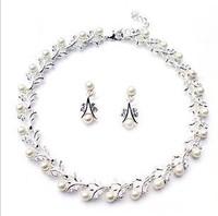 perolas - silver - pearl bride chain sets the bride necklace marriage jewelry x12  perla Necklace perolas perla