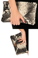 Ladiess Snake Print Clutch Bag New LC74002 Drop Shipping Fast Delivery