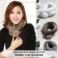 Real Rabbit fur Scarf Unisex Korean Winter Cold Warm fur scarves for women 2013 Fashion Style Wholesale and Retail
