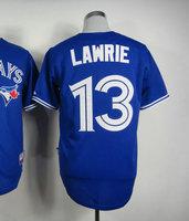 Top quality Cheap Baseball jerseys #13 Brett Lawrie Blue Jersey Size 48-56 All Stitched(Sewn on)