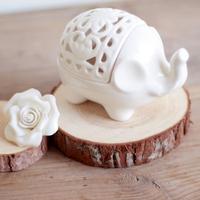 zakka end of a single baby elephant ceramic jewelry box storage box gift box vaporizer 03 Candlestick soapbox