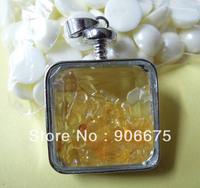 New Beautiful Natural Healing stones Chips Quartz Wish Bottle Drifting Bottle Pendants Fashion Jewelry Pendants Wholesale