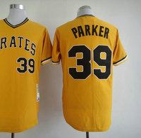 American Baseball Jersey #39 Dave Parker Orange M&N Baseball Jerseys Men's Size 48-56 All Stitched(Sewn on)