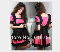 Free shipping  maid costume/young girl sexy costume retail /temptation for halloween SHWC-7241