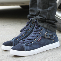 Fashion shoes autumn and winter denim casual skateboarding shoes high cotton-padded shoes elevator shoes