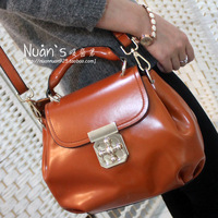 Cowhide female bags 2013 female plum buckle handbag shoulder bag cross-body bag small bridal bag