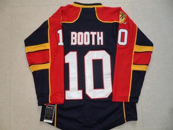 2013 New Florida #10 David Booth dark blue Ice Hockey Jersey Embroidery logos Cheap Hockey jersey Free Shipping