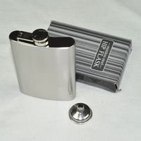 Hot-selling male hip flask querysystem hip flask portable 8 stainless steel hip flask funnel 144g