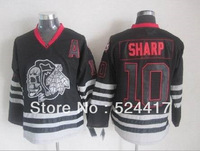 Wholesale 2013 New hockey Jersey Chicago Blackhawks Skull Jersey 10 Sharp black ice skull Jersey Stitch sewn Mix order