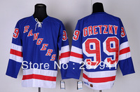 Free shipping!!! Cheap NHL Ice Hockey Jersey Men's Ranger #99 Cretzky Toew Blue White Black Color Home Jerseys