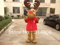 Hot Sales Deer caroon Costume deer Mascot Costume Free Shipping