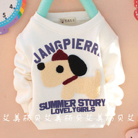 2013 male female child children pattern thickening basic shirt mde