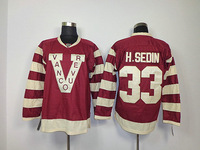 Free Shipping hot sell 2013 ice hockey jerseys vintage Vancouver Canucks #33 H.SEDIN 2014 NHL Winter Classic Jersey