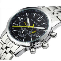 Free shipping Genuine automatic mechanical watches men fashion calendar luminous multifunction watches