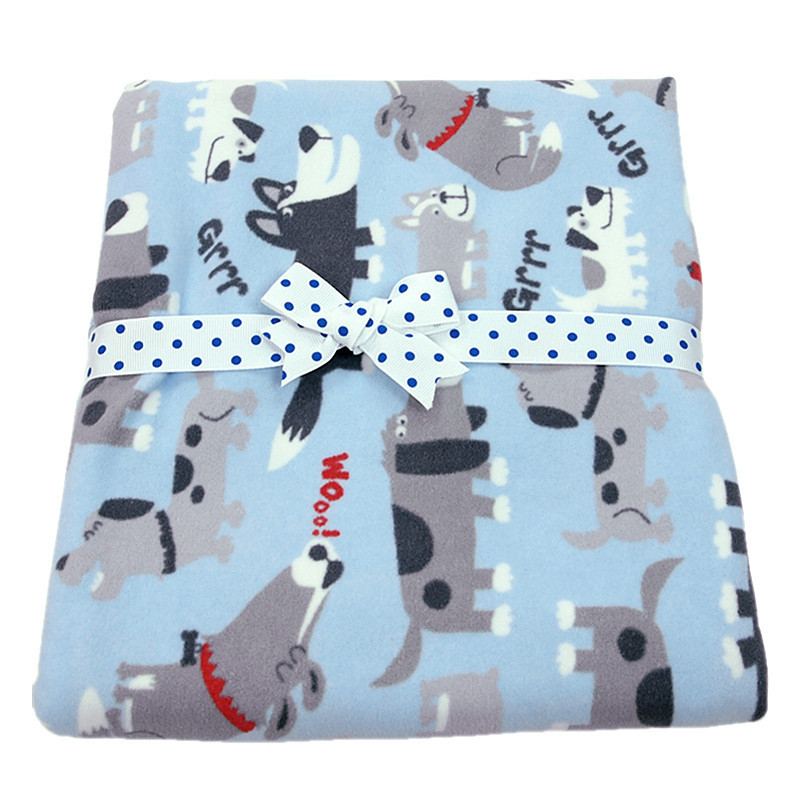 Original Carter Baby Solid Polar Fleece Wrapped Blanket high quality Flannel receiving blanket 102cm*76cm(China (Mainland))