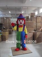 Cute Clown Mascot Costume Buffoon Mascot Costume Clown Fancy Dress Costume Free Shippingfree shipping