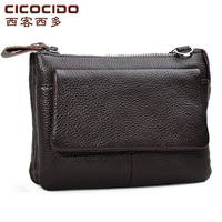 Free shopping new Waist pack male genuine leather male sports casual man bag small messenger bag wallet cowhide waist pack