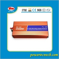 2500w Pure Sine Wave Solar Inverter CE ROHS Approved dc 24v to ac 220v  50HZ  free shipping  !