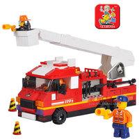 0221 blocks rapid fire / ladder truck children assembled educational toys Lego compatible