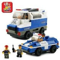 0189 Urban SWAT SWAT escort team building blocks children assembled educational toys Lego compatible