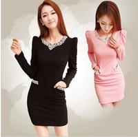 2013 autumn and winter autumn one-piece dress diamond beading elegant slim hip long-sleeve dress